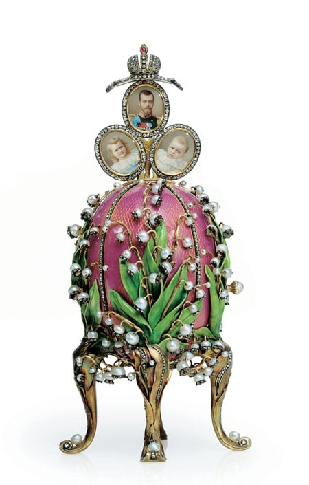 Lilly of the Valley Faberge Easter Egg