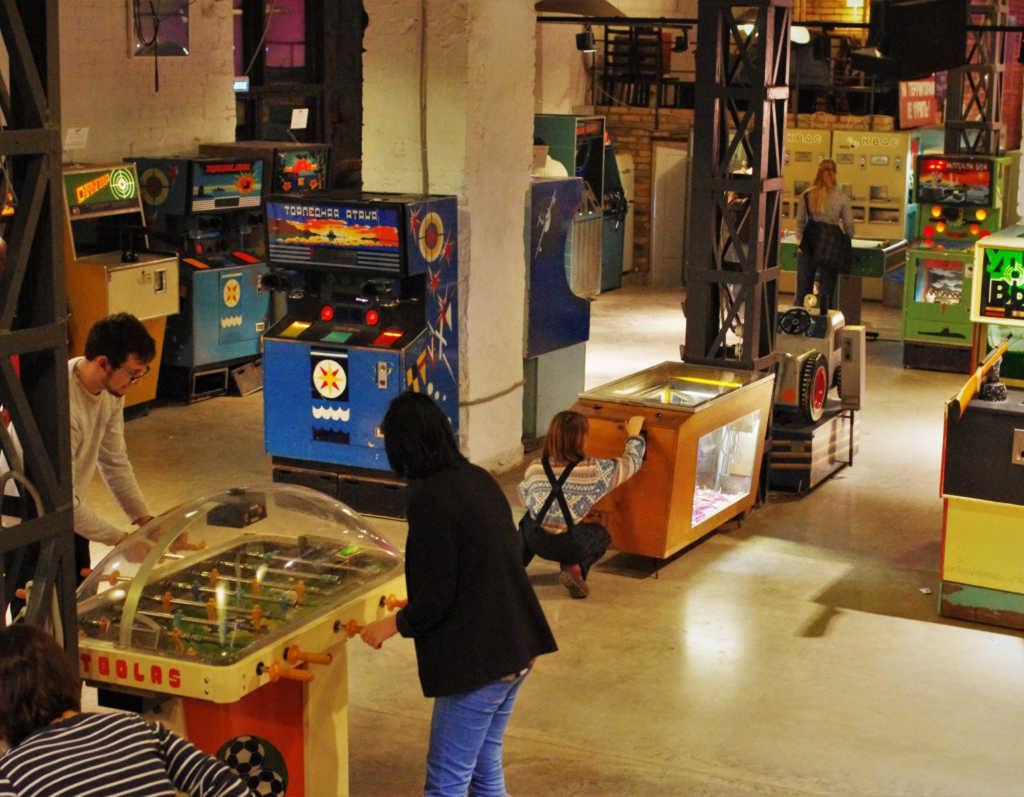 Interior of The Museum of Soviet Arcade Machines in Russia