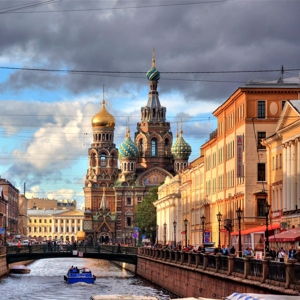 Church on The Spilled Blood, view from the canal