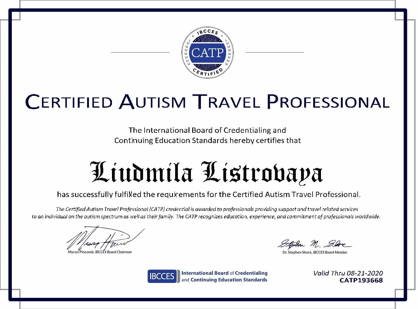 Autism Certificate St. Petersburg Autism-Friendly Tour